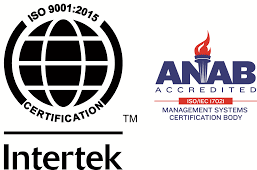 ISO Certified: 9001:2015 logo