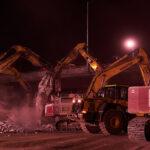 Processus de démolition en cours